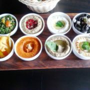 meze platter plated
