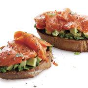 smoked salmon open sandwich